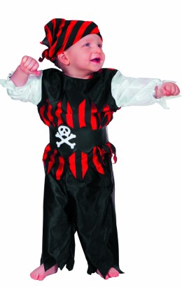 Baby piraat rood/zwart