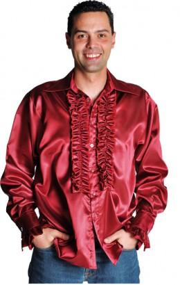Ruches-blouse bordeaux