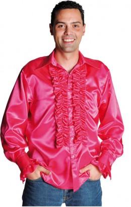 Ruches-blouse fuchsia