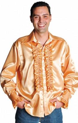 Ruches-blouse goud