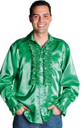 Ruches-blouse groen
