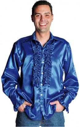 Ruches-blouse kobalt blauw