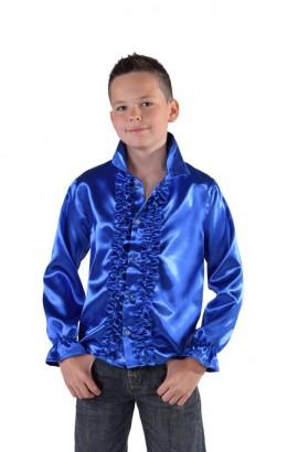 Ruches blouse blauw