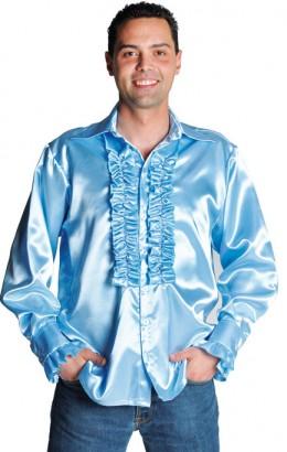 Ruches-blouse licht blauw