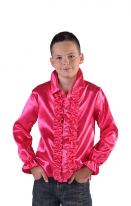 Ruches blouse roze