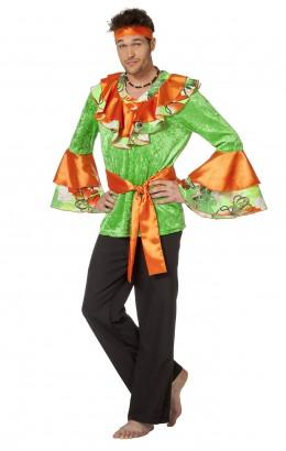 Caribean blouse groen oranje
