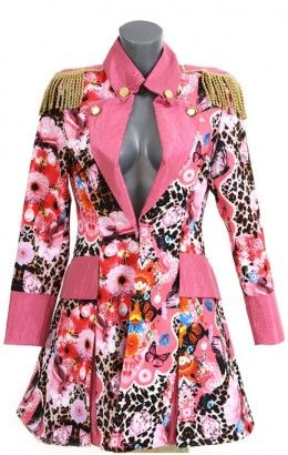 Carnavalsjasje luxe roze met panterprint lang