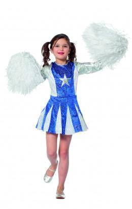 Cheerleader blauw met ster
