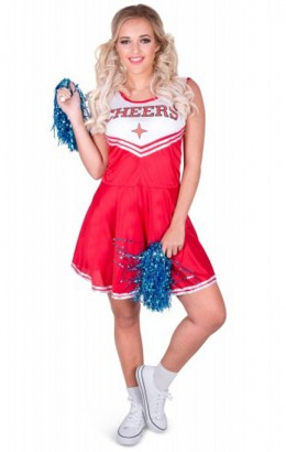 Cheerleader jurkje rood
