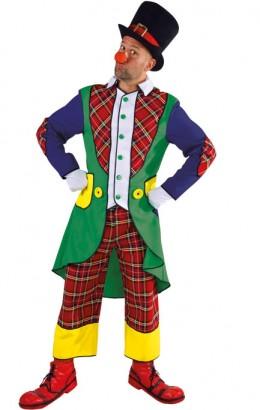 Clownspak met geruite broek.