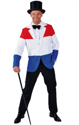 Colbert rood wit blauw