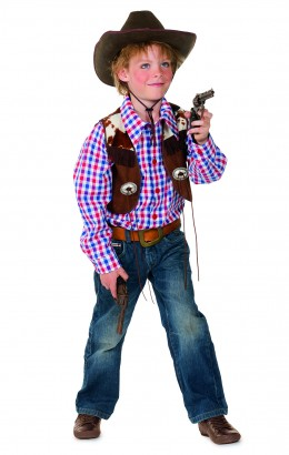 cowboy blouse met gilet