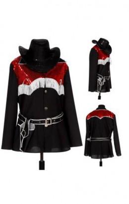 Cowboy zwart rood