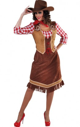 Cowboy jurk halflang