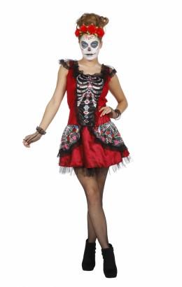 Skelet kostuum dame