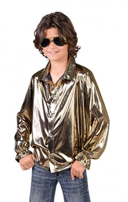 disco blouse goud