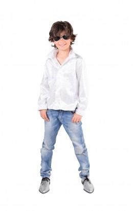 disco blouse pailletten wit