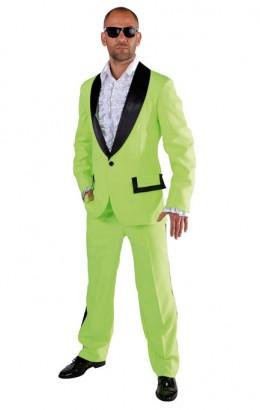 Disco kostuum lime groen