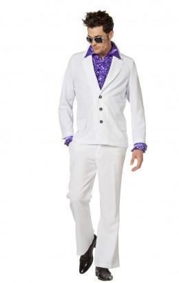 Disco kostuum wit