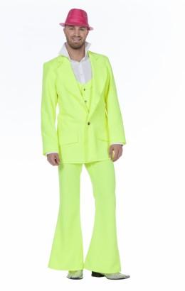 Disco pak/ night fever neon geel