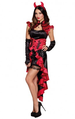 Gothic duivelkostuum dame