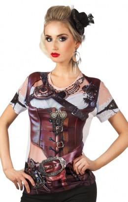 Fotorealistisch steampunk shirt dame