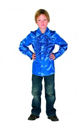 Ruches blouse cobalt