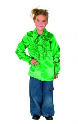 Ruches blouse groen