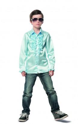 Ruches blouse licht blauw