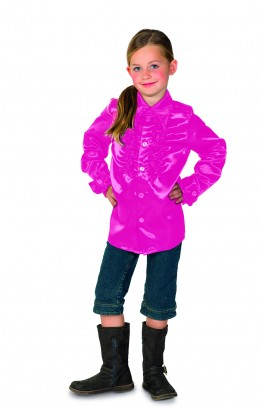 Ruches blouse roze