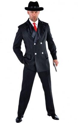Maffia kostuum streep zwart