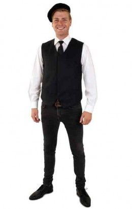 Gilet zwart wol look