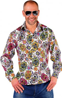 blouse shirt halloween day of the dead