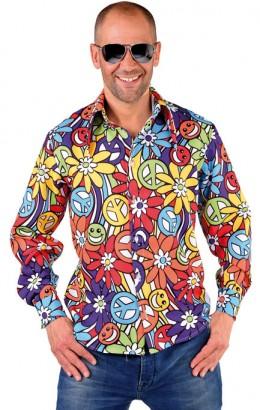 Hippie shirt 70s bloem