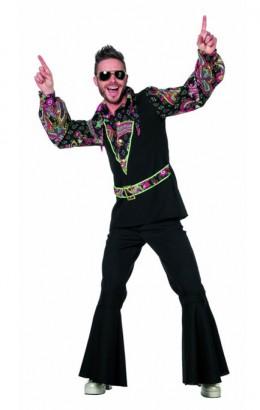 Hippie hemd zwart/roze