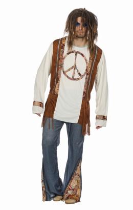 Hippie/peace pak voor mannen