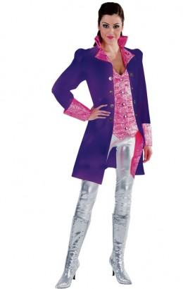 Jasje luxe met brokaat paars