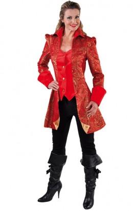 Carnavalsjasje luxe met brokaat rood