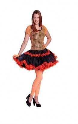 Netshirt jurkje neon oranje