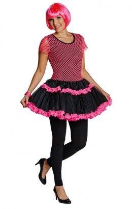 Netshirt jurkje neon roze