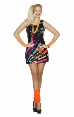 Pailletten jurkje disco