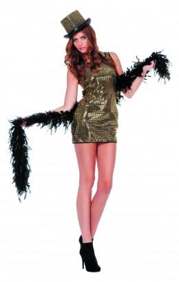 Pailletten jurkje Patty goud