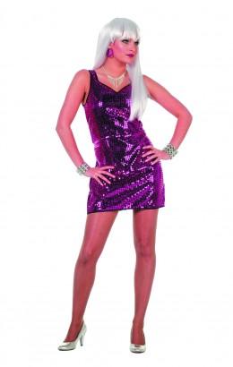 Pailletten jurkje Patty pink