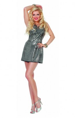 Pailletten jurkje Patty zilver
