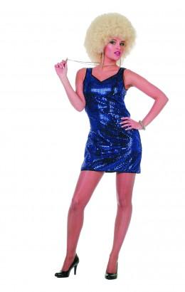 Pailletten jurkje Patty Blauw
