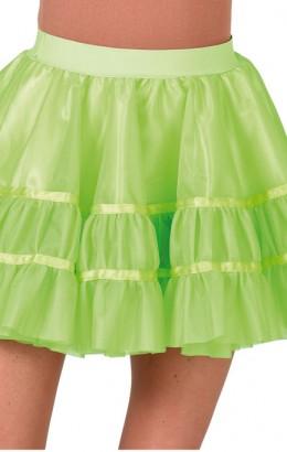 Petticoat neon groen kort