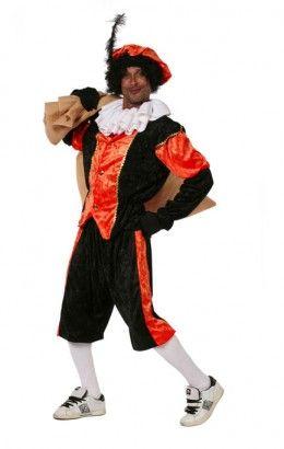 Piet kostuum budget  zwart/oranje