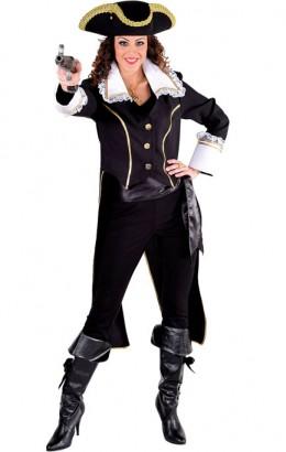 Piraten jas dame zwart