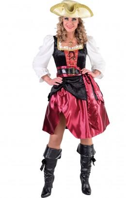 Jurk piraat luxe bordeaux