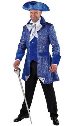 Jas piraat-markies luxe blauw